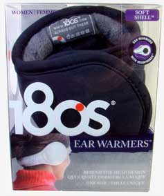 180s Soft Shell Women's Stereo Ear Warmers in Black
