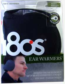 180s Men's Soft Shell Ear Warmers with Built-in Headphone Earmuffs image