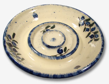 Wild Blueberry Stoneware Soap Dish Angle View