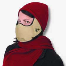 AirGuard Medical CT Cold Weather Winter Face Mask - Camel