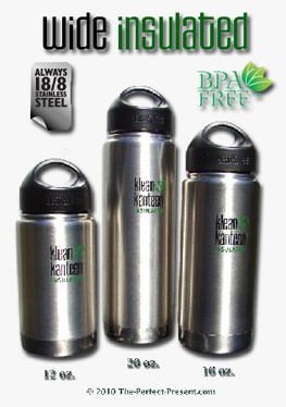 Klean Kanteen Wide Insulated Stainless Steel Water Bottles