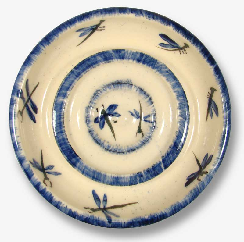 Tall Pines Dragonfly Stoneware Soap Dish